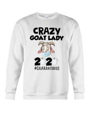 Crazy Goat Lady 2020 Quarantined Shirt Crewneck Sweatshirt thumbnail