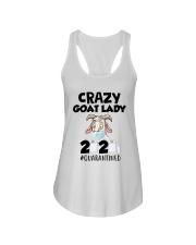Crazy Goat Lady 2020 Quarantined Shirt Ladies Flowy Tank thumbnail