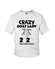 Crazy Goat Lady 2020 Quarantined Shirt Youth T-Shirt thumbnail