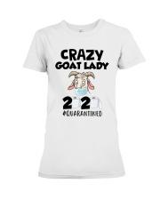 Crazy Goat Lady 2020 Quarantined Shirt Premium Fit Ladies Tee thumbnail