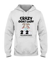 Crazy Goat Lady 2020 Quarantined Shirt Hooded Sweatshirt thumbnail