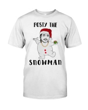 Christmas Post Malone Posty The Snowman Shirt Classic T-Shirt front