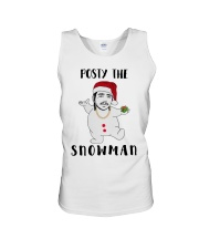 Christmas Post Malone Posty The Snowman Shirt Unisex Tank tile