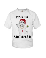 Christmas Post Malone Posty The Snowman Shirt Youth T-Shirt tile