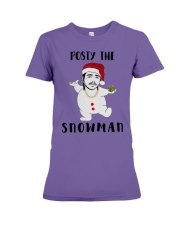 Christmas Post Malone Posty The Snowman Shirt Premium Fit Ladies Tee thumbnail