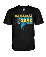 Hurricane Dorian Bahamas Strong Shirt V-Neck T-Shirt thumbnail