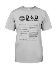 D D Player's Rules Shirt Classic T-Shirt front