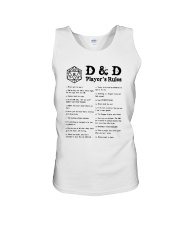 D D Player's Rules Shirt Unisex Tank thumbnail
