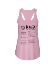 D D Player's Rules Shirt Ladies Flowy Tank thumbnail