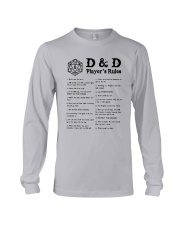 D D Player's Rules Shirt Long Sleeve Tee thumbnail