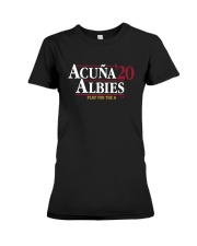 Acuña Albies 20 Play For The A Shirt Premium Fit Ladies Tee thumbnail