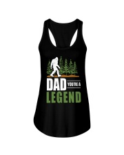 Big Foot Dad You're A Legend Shirt Ladies Flowy Tank thumbnail