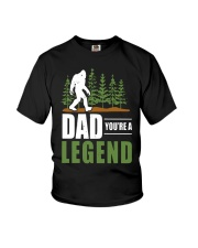 Big Foot Dad You're A Legend Shirt Youth T-Shirt tile