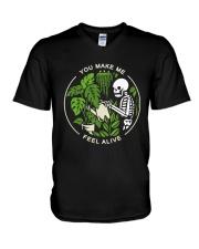 Bone You Make Me Feel Alive Shirt V-Neck T-Shirt thumbnail