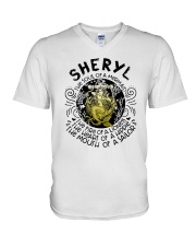 Sheryl The Soul Of A Mermaid The Fire Shirt V-Neck T-Shirt thumbnail
