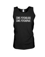 Soms Psycholoog Soms Psychopaat Shirt Unisex Tank thumbnail