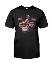 America Independence Day Fat Boy Freedom Shirt Classic T-Shirt front