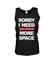 Sorry I Need Social Distancing More Space Shirt Unisex Tank thumbnail