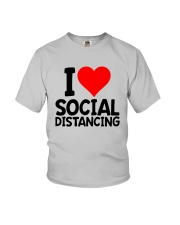I Love Social Distancing Shirt Youth T-Shirt tile