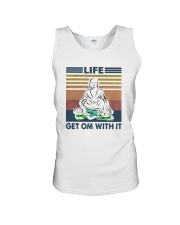 Vintage Yoga Life Get Om With It Shirt Unisex Tank thumbnail