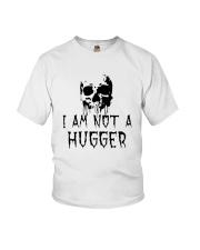 Skull I Am Not A Hugger Shirt Youth T-Shirt thumbnail