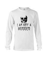 Skull I Am Not A Hugger Shirt Long Sleeve Tee thumbnail