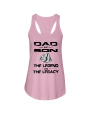 Dad And Son The Legend And The Legacy Shirt Ladies Flowy Tank thumbnail