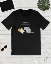 Cat Wake Up It's Food O'clock Shirt Classic T-Shirt lifestyle-mens-crewneck-front-17