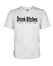 Drunk Bitches Have More Fun Shirt V-Neck T-Shirt thumbnail