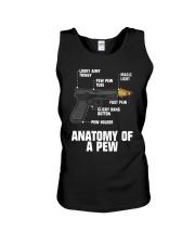 Gun Anatomy Of A Pew Shirt Unisex Tank thumbnail