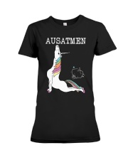 Unicorn Ausatmen Shirt Premium Fit Ladies Tee thumbnail