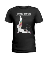Unicorn Ausatmen Shirt Ladies T-Shirt thumbnail