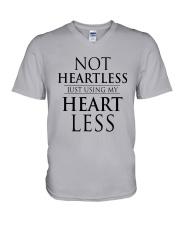 Not Heartless Just Using My Heart Less Shirt V-Neck T-Shirt thumbnail
