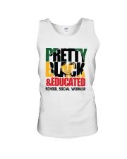 Pretty Black And Educated School Social Shirt Unisex Tank thumbnail