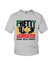 Pretty Black And Educated School Social Shirt Youth T-Shirt thumbnail