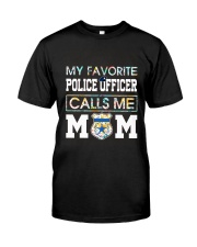 Floral Favorite Police Officer Calls Me Mom Shirt Classic T-Shirt front