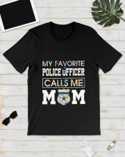 Floral Favorite Police Officer Calls Me Mom Shirt Classic T-Shirt lifestyle-mens-crewneck-front-17