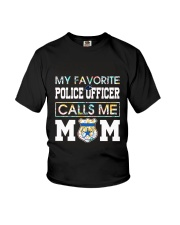 Floral Favorite Police Officer Calls Me Mom Shirt Youth T-Shirt thumbnail