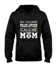 Floral Favorite Police Officer Calls Me Mom Shirt Hooded Sweatshirt thumbnail