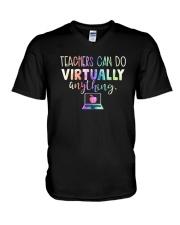 Teachers Can Do Virtually Anything Shirt V-Neck T-Shirt thumbnail
