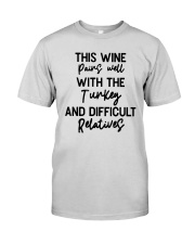 This Wine Pairs Well With The Turkey Shirt Premium Fit Mens Tee thumbnail