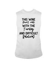 This Wine Pairs Well With The Turkey Shirt Sleeveless Tee thumbnail