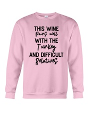 This Wine Pairs Well With The Turkey Shirt Crewneck Sweatshirt thumbnail
