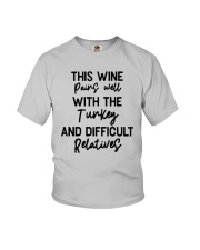 This Wine Pairs Well With The Turkey Shirt Youth T-Shirt thumbnail