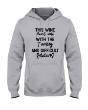 This Wine Pairs Well With The Turkey Shirt Hooded Sweatshirt thumbnail