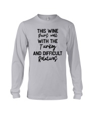 This Wine Pairs Well With The Turkey Shirt Long Sleeve Tee thumbnail