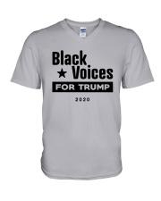 Black Voices For Trump Shirt V-Neck T-Shirt thumbnail