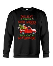 Christmas Jolliest Bunch Of Social Workers Shirt Crewneck Sweatshirt thumbnail