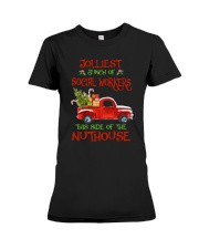 Christmas Jolliest Bunch Of Social Workers Shirt Premium Fit Ladies Tee thumbnail