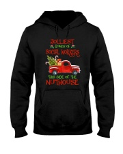 Christmas Jolliest Bunch Of Social Workers Shirt Hooded Sweatshirt thumbnail